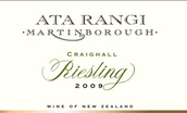 新天地克雷格雷司令干白葡萄酒(Ata Rangi Craighall Riesling, Martinborough, New Zealand)