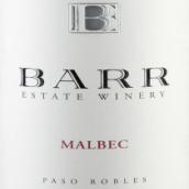 巴尔酒庄马尔贝克干红葡萄酒(Barr Estate Winery Malbec,Paso Robles,USA)