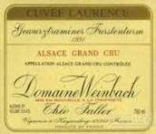 温巴赫酒庄福斯腾园劳伦斯琼瑶浆干白葡萄酒(Domaine Weinbach Gewurztraminer Furstentum Cuvee Laurence, Alsace, France)