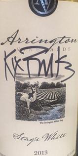 阿灵顿雄鹿干白葡萄酒(Arrington Vineyards Stag's White,Tennessee,USA)