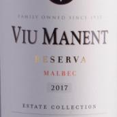 威玛酒庄特选珍藏马尔贝克干红葡萄酒(Viu Manent Estate Collection Reserva Malbec,Colchagua Valley...)