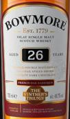 波摩年份三部曲法国橡木桶陈酿26年苏格兰单一麦芽威士忌(Bowmore The Vintage's Trilogy French Oak Barrique Aged 26 Years Single Malt Scotch Whisky, Islay, UK)