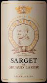 金玫瑰城堡副牌干红葡萄酒(Sarget de Gruaud Larose, Saint-Julien, France)