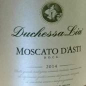 莉亚公爵夫人莫斯卡托甜白起泡酒(Duchessa Lia Moscato,Moscato d'Asti,Italy)