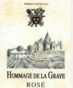 德拉格拉夫荣耀桃红葡萄酒(Chateau de la Grave Hommage De La Grave Pink Wine,Cotes de ...)