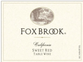 福克斯布鲁克甜红葡萄酒(Fox Brook Winery Sweet Red Table Wine, California, USA)