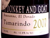 驴子与山羊塔马林多瑚珊干红葡萄酒(A Donkey and Goat Roussanne Tamarindo,El Dorado,USA)