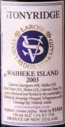 石脊酒庄拉罗斯干红葡萄酒(Stonyridge Larose,Waiheke Island,New Zealand)