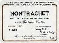 罗曼尼·康帝蒙哈榭园干白葡萄酒(Domaine de La Romanee-Conti Montrachet,Cote de Beaune,France)