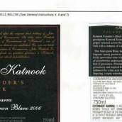 佳诺创始人长相思干白葡萄酒(Katnook Founder's Block Sauvignon Blanc,Coonawarra,Australia)