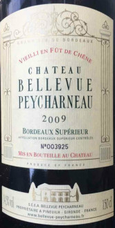 贝乐维酒庄干红葡萄酒(Chateau Bellevue Peycharneau,Bordeaux Superieur,France)