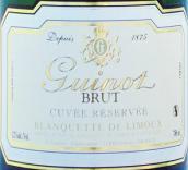 吉诺珍藏特酿利慕布朗克特起泡酒(Maison Guinot Cuvee Reservee, Blanquette de Limoux, France)
