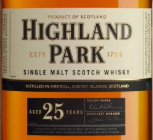 高原骑士25年苏格兰单一麦芽威士忌(Highland Park Aged 25 Years Single Malt Scotch Whisky,Orkney...)