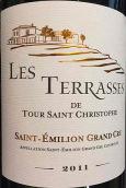 梯田酒庄圣克里斯多夫高地红葡萄酒(Les Terrasses De Tour Saint Christophe, Saint-Emilion Grand Cru, France)