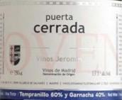 赫罗明塞拉达系列干红葡萄酒(Vinos Jeromin Puerta Cerrada Tinto,Madrid,Spain)