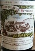 翠绿海伦贝格珍藏雷司令干白葡萄酒(C.von Schubert Maximin Grunhauser Herrenberg Riesling ...)