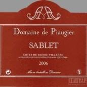Domaine de Piaugier Cotes du Rhone Villages Sablet,Rhone,...