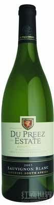 杜佩雷酒庄长相思干白葡萄酒(Du Preez Estate Sauvignon Blanc,Breedekloof,South Africa)