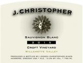 杰伊·克里斯托弗小田园长相思干白葡萄酒(J.Christopher Wines Croft Vineyard Sauvignon Blanc,...)