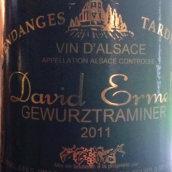 大卫·艾美尔酒庄琼瑶浆白葡萄酒(David Ermel Gewurztraminer,Alsace,France)