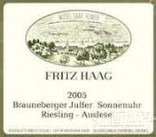 海格布朗伯哲朱弗日晷园12号雷司令精选白葡萄酒(Fritz Haag Brauneberger Juffer Sonnenuhr Riesling Auslese Fuder 12, Mosel, Germany)