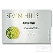七山雷司令半干白葡萄酒(Seven Hills Riesling,Columbia Valley,USA)