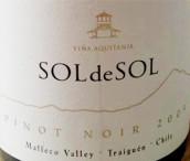 百子莲太阳霞多丽白葡萄酒(Vina Aquitania Sol de Sol Chardonnay, Malleco Valley, Chile)