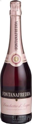 方达娜福达布拉凯多起泡酒(Fontanafredda Brachetto d'Acqui DOCG,Piedmont,Italy)