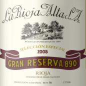 橡树河畔890特级珍藏干红葡萄酒(La Rioja Alta  S.A. Gran Reserva 890, Rioja, Spain)