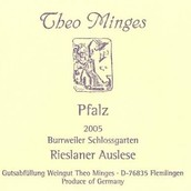 Weingut Theo Minges Burrweiler Schlosssgarten Rieslaner ...