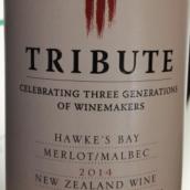 索金献礼梅洛马尔贝克干红葡萄酒(Soljans Estate Tribute Merlot-Malbec,Hawke's Bay,New Zealand)