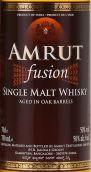 阿慕融合橡木桶陈单一麦芽威士忌(Amrut Fusion Aged in Oak Barrels Single Malt Whisky, Bangalore, India)