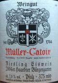 卡托尔哈尔特伯哲园雷司令冰酒(Muller-Catoir Haardter Burgergarten Riesling Eiswein,Pfalz,...)