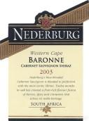 尼德堡男爵夫人干红葡萄酒(Nederburg Baronne, Western Cape, South Africa)