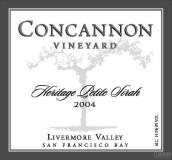 肯嘉尼酒庄传统小西拉干红葡萄酒(Concannon Vineyard Heritage Petite Sirah, Livermore Valley, USA)