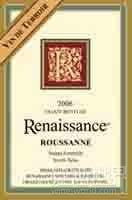 复兴泰勒瓦瑚珊干白葡萄酒(Renaissance Vin de Terroir Roussanne,North Yuba,USA)