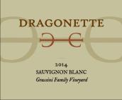 德拉贡内特酒庄格拉西尼家族园长相思干白葡萄酒(Dragonette Cellars Grassini Family Vineyard Sauvignon Blanc, Happy Canyon, USA)
