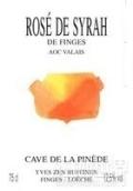 皮内德西拉桃红葡萄酒(Cave de la Pinede Rose de Syrah de Finges,Valais,Switzerland)