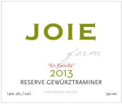 喜悦酒庄珍藏琼瑶浆半甜型白葡萄酒(Joie Farm Reserve Gewurztraminer,Okanagan Valley,Canada)