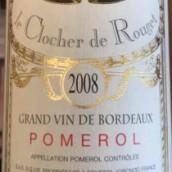 罗杰干红葡萄酒(Le Clocher de Rouget,Pomerol,France)
