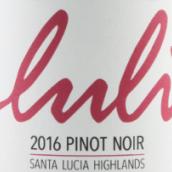 卢利酒庄黑皮诺干红葡萄酒(Luli Wines Pinot Noir, Santa Lucia Highlands, USA)