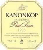炮鸣之地保罗萨奥尔干红葡萄酒(Kanonkop Paul Sauer, Stellenbosch, South Africa)