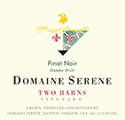 安详山谷间葡萄园黑皮诺干红葡萄酒(Domaine Serene Two Barns Vineyard Pinot Noir,Willamette ...)