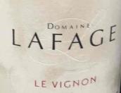 拉法奇酿酒师甄选干红葡萄酒(Domaine Lafage Le Vignon, Cotes du Roussillon, France)
