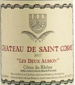 圣戈斯酒庄阿尔比恩干红葡萄酒(Chateau de Saint Cosme Les Deux Albion Red, Cotes du Rhone, France)