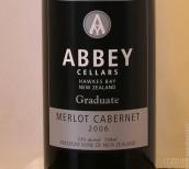 修道院結業梅洛-赤霞珠紅葡萄酒(Abbey Cellars Graduate Merlot - Cabernet Sauvignon, Hawke's Bay, New Zealand)