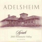 爱德森西拉甜红葡萄酒(Adelsheim Vineyard Syrah, Willamette Valley, USA)