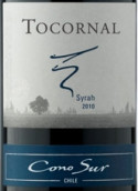 柯诺苏托科纳尔西拉干红葡萄酒(Cono Sur Tocornal Shiraz,Central Valley,Chile)