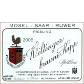 伊贡米勒嘉莱威廷格雷司令迟摘白葡萄酒(Egon Muller - Scharzhof Le Gallais Wiltinger Braune Kupp Riesling Spatlese, Mosel, Germany)