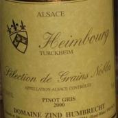 鸿布列什翰伯格园灰皮诺选粒贵腐甜白葡萄酒(Domaine Zind-Humbrecht Heimbourg Pinot Gris SGN,Alsace,...)